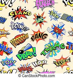 caricatura, explosões, papel parede