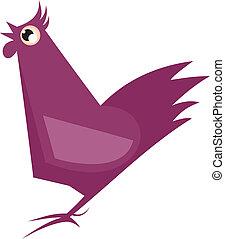 caricatura, gallo