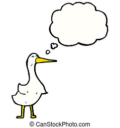 caricatura, ganso