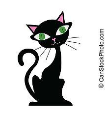 caricatura, gato