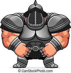 caricatura, gladiator, armadura