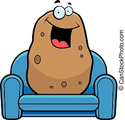caricatura, haragán del sofá