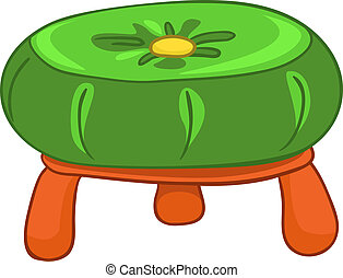 caricatura, hogar, muebles, silla