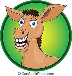 caricatura, horse/donkey