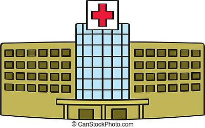caricatura, hospital