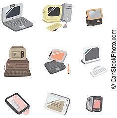 caricatura, icono de la computadora