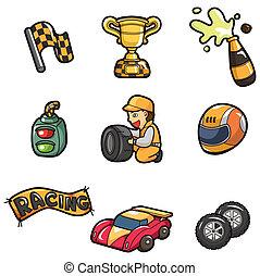 caricatura, icono, f1