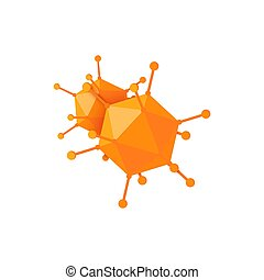 caricatura, icono, vector, imagen, adenovirus, estilo