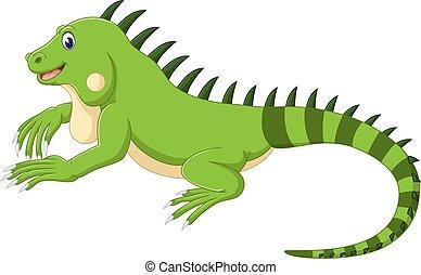 caricatura, iguana