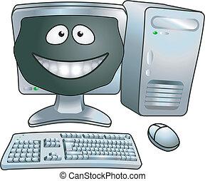 caricatura, ilustração computador