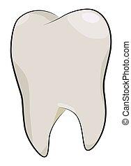 caricatura, imagem, de, dente, icon., odontologia, símbolo