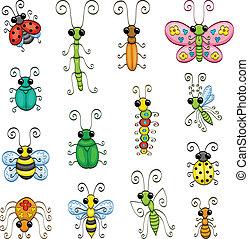 caricatura, insectos