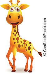 caricatura, jirafa