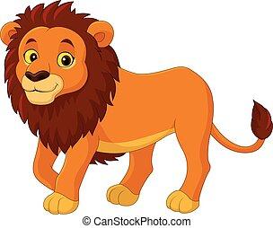 caricatura, león