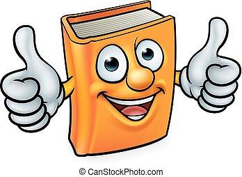 caricatura, libro, carácter, mascota