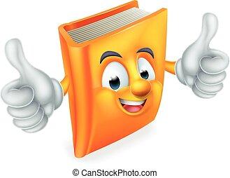 caricatura, libro, mascota