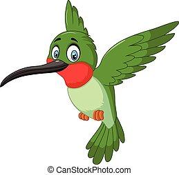 caricatura, lindo, pequeño, pájaro