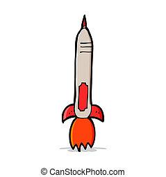 caricatura, míssil