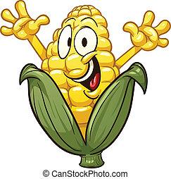 caricatura, milho