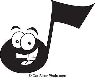caricatura, nota musical