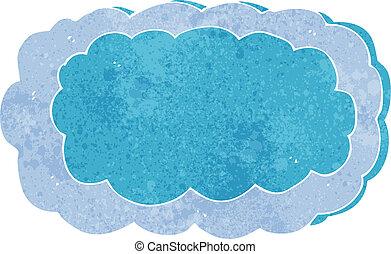 caricatura, nube, símbolo