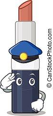caricatura, oficial, chapéu, batom, marrom, desenho, azul, polícia, desgastar