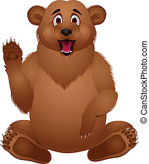 caricatura, oso