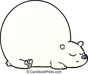 caricatura, oso polar