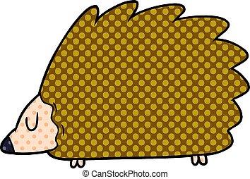 caricatura, ouriço