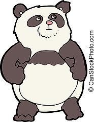 caricatura, panda