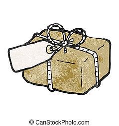 caricatura, paquete