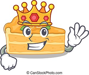 caricatura, pastel de queso, carácter, naranja, diseño, ...