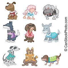 caricatura, perro