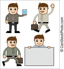 caricatura, pessoas negócio