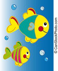 caricatura, pez