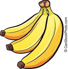 caricatura, plátanos
