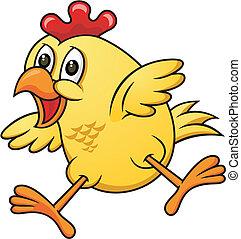 caricatura, pollo, 06