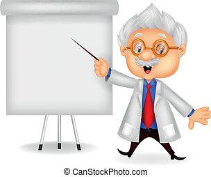 caricatura, professor, ensinando