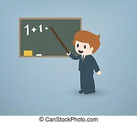 caricatura, professor