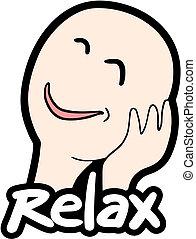 caricatura, relaxe