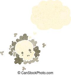 caricatura, retro, nuvem, fantasmagórico