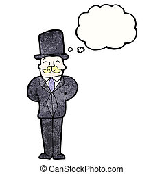 caricatura, ricos, homem
