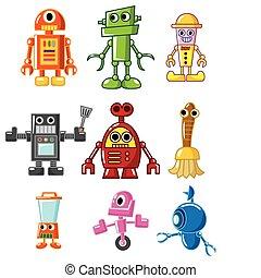 caricatura, robô