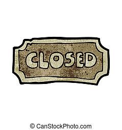 caricatura, sinal fechado