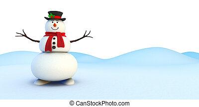 caricatura, snowman