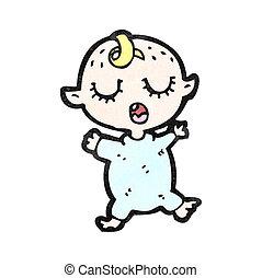 caricatura, sueño, bebé