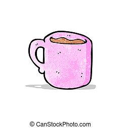 caricatura, taza