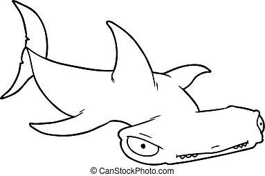 Hammerhead Caricatura Tiburón