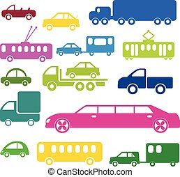 caricatura, transporte