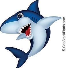 caricatura, tubarão